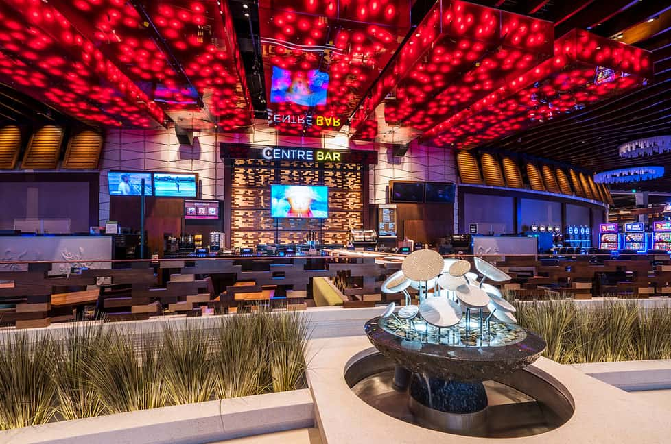 Centre Bar and Gaming zone in the Club Regent Casino