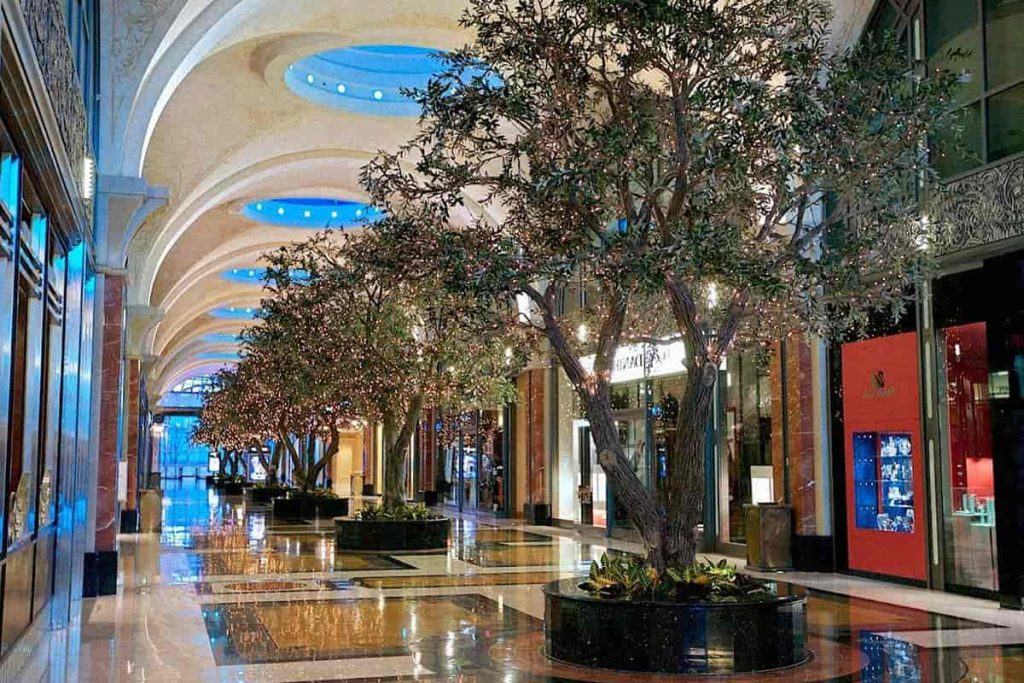 The Hall of the Fallsview Casino Resort With the Trees