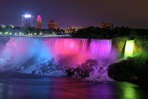 Night view at the Niagara Falls Casinos