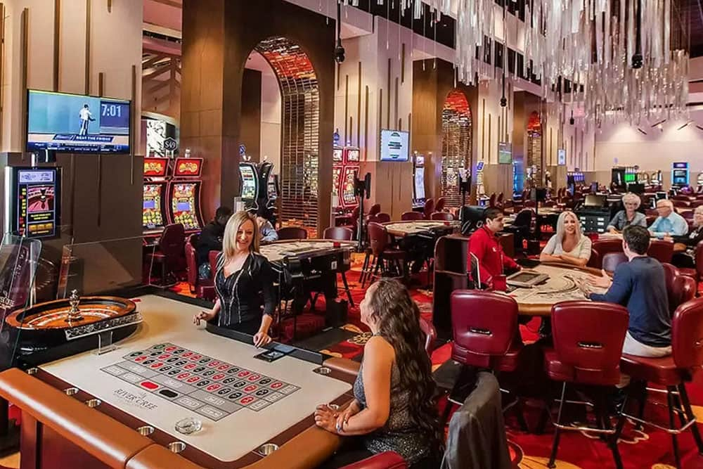 Gaming room at River Cree Casino with people